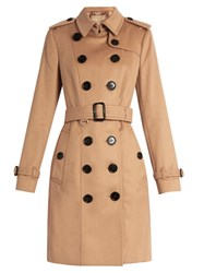 Burberry Sandringham Mid Length Cashmere Trench Coat