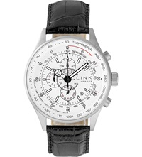 Links Of London Mph Leather Strap Watch Black
