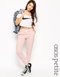 Asos Petite Basic Joggers With Contrast Tie Nude