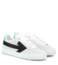 Off White Arrows Suede Sneakers White