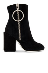 Off White Suede Ankle Boots Black