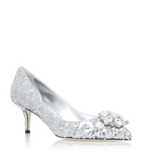 Dolce And Gabbana Bellucci Sequin Pumps 60 Female Silver