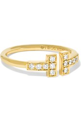 Tiffany And Co. T Wire 18 Karat Gold Diamond Ring