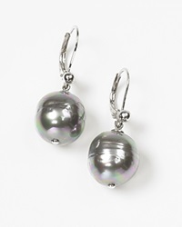 Majorica Women's 12Mm Baroque Grey Simulated Pearl Drop Earrings