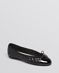 Paul Mayer Ballet Flats Best Quilted Black Black
