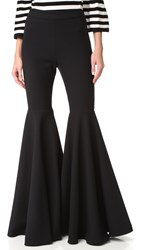 Milly Double Weave Flare Pants Black