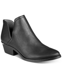 Bar Iii Terra Cutout Block Heel Booties Only At Macy's Women's Shoes Black