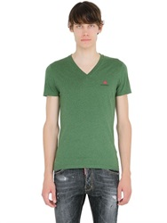 Dsquared2 Underwear Cotton Jersey V Neck T Shirt