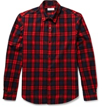 Tomorrowland Check Cotton Flannel Shirt Red