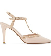 Dune Catelyn Patent Studded Courts Nude Patent