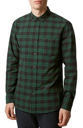 Men's Topman Slim Fit Blackwatch Plaid Long Sleeve Shirt