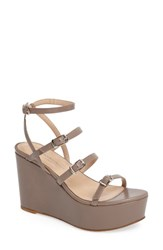 Charles David Women's Penelope Wedge Sandal Taupe Leather