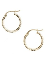 Lord And Taylor Sterling Silver Textured Hoop Earrings Gold