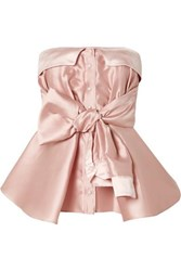 Alexis Mabille Bow Detailed Satin Top Blush