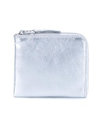 Comme Des Garcons Metallic Leather Wallet Silver