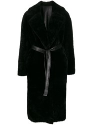 Blancha Belted Faux Fur Coat 60
