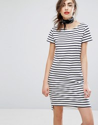 People Tree Organic Cotton Breton Stripe T Shirt Dress Multi