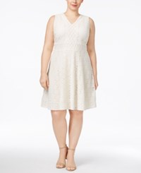 Charter Club Plus Size Lace Fit And Flare Dress Only At Macy's Vintage Cream