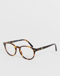 Polo Ralph Lauren 0Ph2208 Round Glasses With Demo Lenses Brown