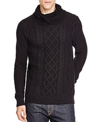 Scotch And Soda Cable Knit Cowl Neck Sweater Black