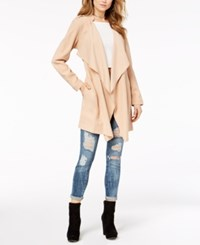 Guess Cali Draped Trench Coat Soft Sand