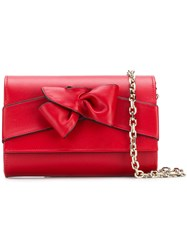 Casadei Bow Clutch Bag Red