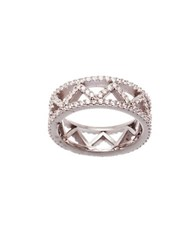 Lord And Taylor Cubic Zirconia Zigzag Eternity Ring Silver