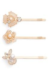 Berry Cara 3 Pack Floral Bobby Pins