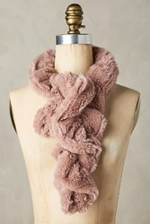 Anthropologie Crimped Faux Fur Stole Pink