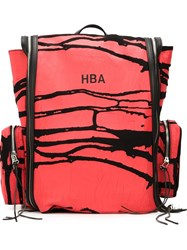 Hood By Air Cracked Paint Backpack Red