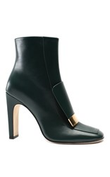 Sergio Rossi The Sr1 Leather Bootie Black