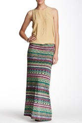 Fire Printed Maxi Skirt Juniors Multi