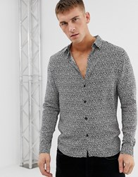 Burton Menswear Shirt With Oval Print In Black