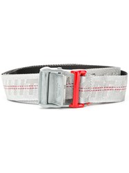 Off White Lettering Logo Belt Grey