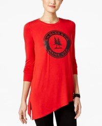 G.H. Bass And Co. Asymmetrical Logo Sweatshirt Classic Red Combo