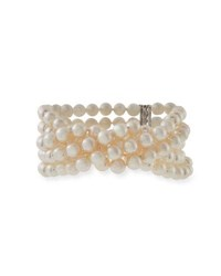 Assael Five Row Akoya Pearl Bracelet