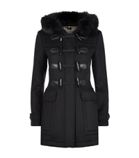 Burberry Brit Blackwell Fur Trim Duffle Coat Female