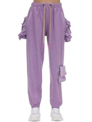 Natasha Zinko Cotton Sweatpants Lilac