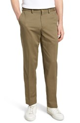 Bills Khakis M3 Straight Fit Flat Front Vintage Twill Pants Olive