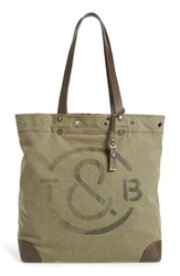 Treasure And Bond Canvas Tote Green Olive T And B Print