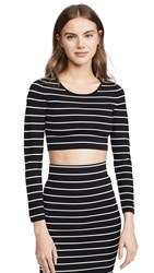 Good American Stripe Crop Top Stripe001