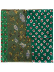 Pierre Louis Mascia Multi Print Scarf Green