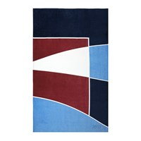 Hugo Boss Race Garnet Beach Towel
