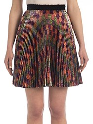 Marco De Vincenzo Pleated Lurex Mini Skirt Multicolor