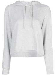 Majestic Filatures Cropped Hoodie Grey