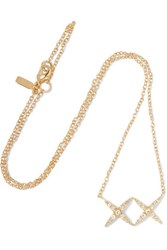Elizabeth And James Vida Gold Tone Crystal Necklace One Size