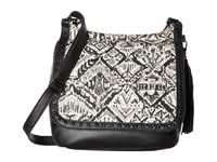 Sakroots Artist Circle Seni Flap Crossbody Jet Brave Beauti Cross Body Handbags Black