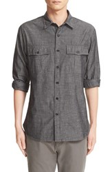 Todd Snyder Men's Chambray Military Shirt