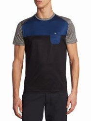 Saks Fifth Avenue Colorblock Chest Pocket Tee Shadow