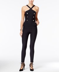 Material Girl Juniors' Embellished Skinny Leg Jumpsuit Only At Macy's